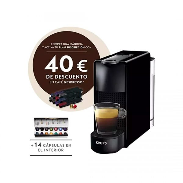 Cafetera nespresso KRUPS Essenza Mini Negre