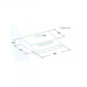 Campana convencional EDESA ECS 6213 X Acer inoxidable 60cm
