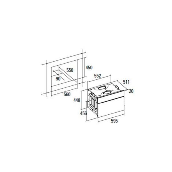 Forn compacte multifunció CATA ME4006X Aquasmart Inox