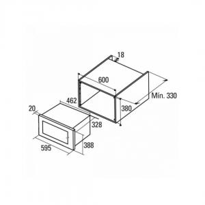 Microones integrable CATA MC20IX Inox Grill 20L 1100W